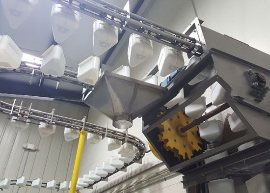 top of elecon conveying system